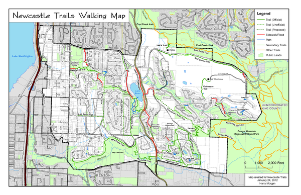 Newcastle Trails Trail Map