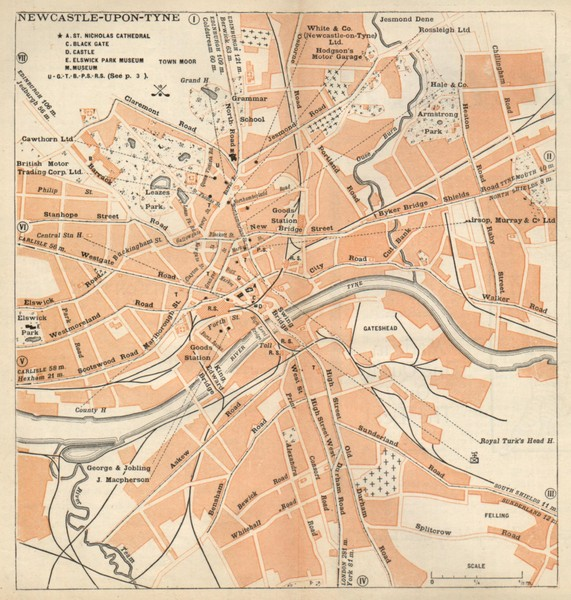 Newcastle upon Tyne Map