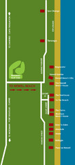 Newell Beach Tourist Map