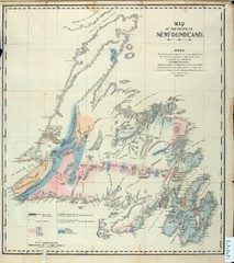 Newfoundland Geologic Map 1842