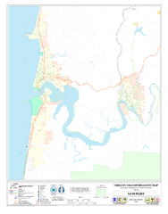 Newport Oregon Road Map