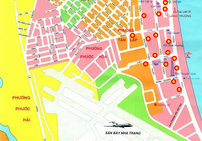 Nha Trang Vietnam Map.Nha Trang Hotel Map Nha Trang Vietnam Mappery