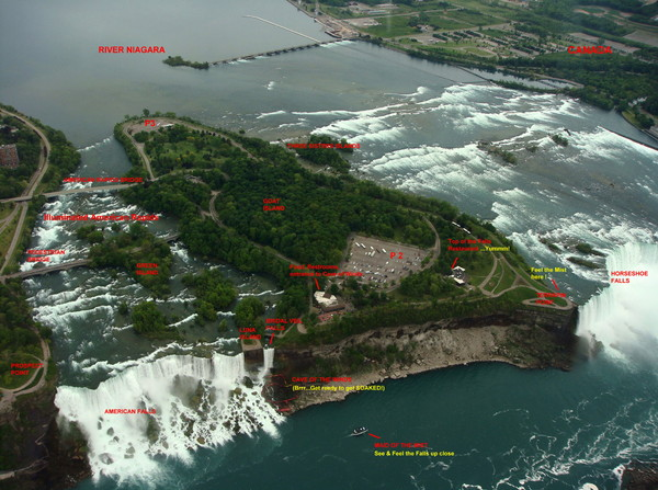 Niagara Falls Map Niagara Falls New York Usa Mappery