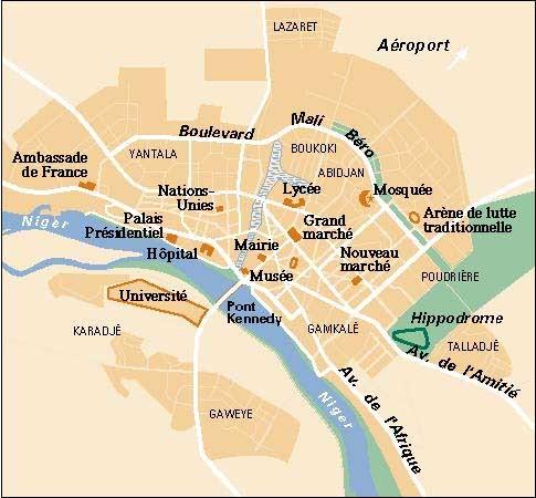 Niamey City Map - Niamey Niger • mappery