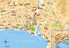 Nice France Tourist Map