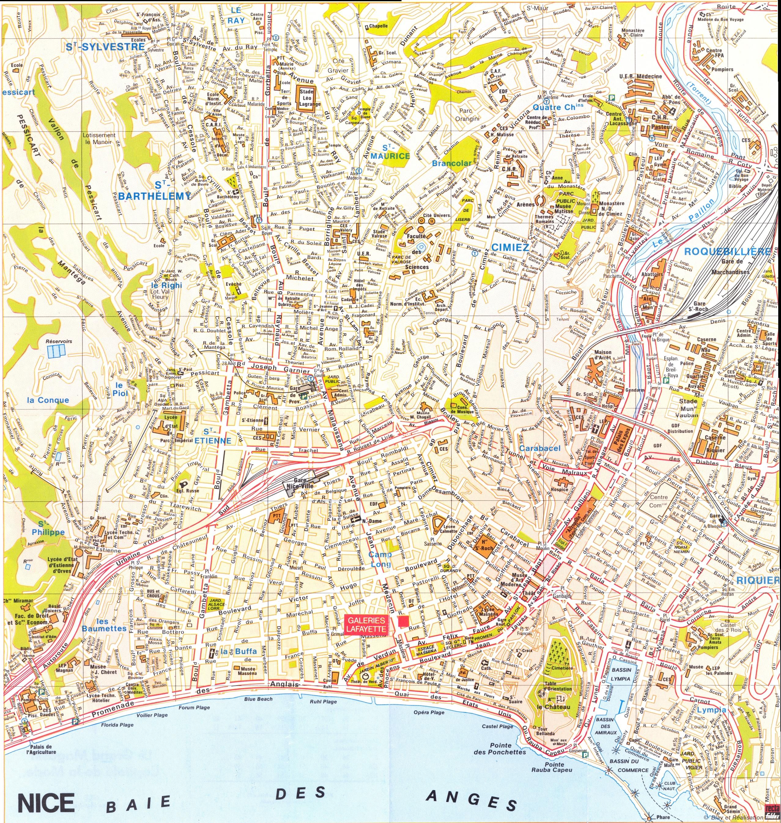 Nice Map - Nice France • mappery