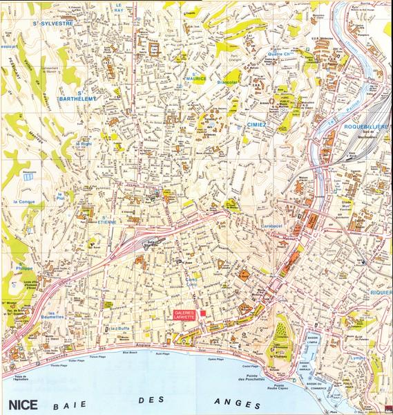 Nice Map Nice France mappery