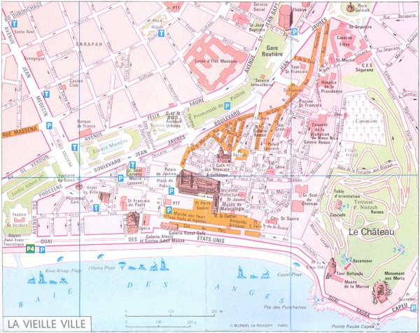 Nice vielle ville Map Nice France mappery