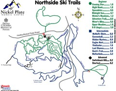 Nickel Plate Nordic Centre North Ski Trail Map