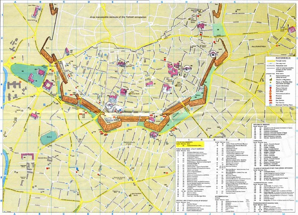 Nicosia City Map