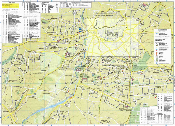 Nicosia Tourist Map