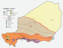 Niger 1969 Economic Activity Map