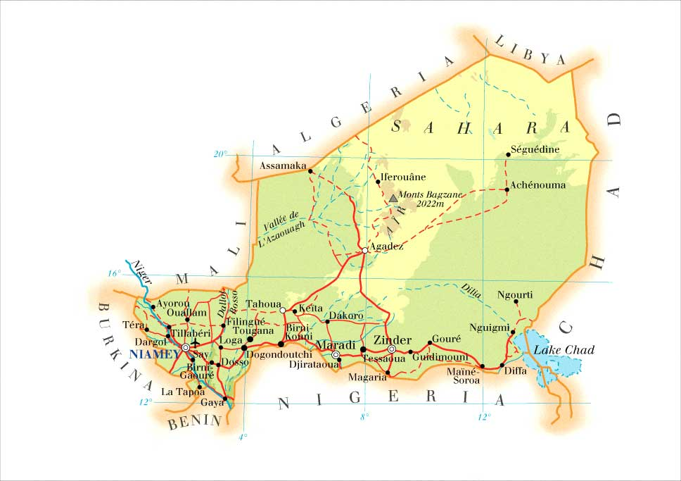 Niger Map Mappery - Niger map