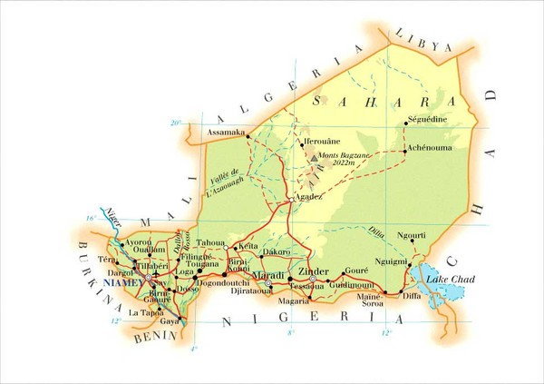 Niger Map • mappery