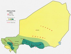 Niger population density Map