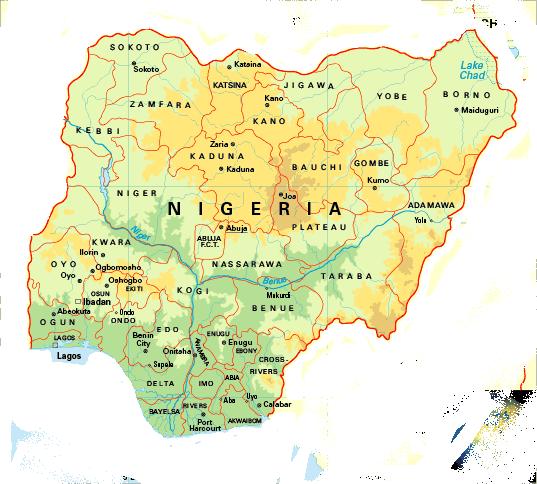 Nigeria Map • mappery on syria map, madagascar map, mali map, sri lanka map, sudan map, niger map, ghana map, mauritius map, cuba map, usa map, senegal map, rwanda map, african states map, malawi map, russia map, liberia map, egypt map, new zealand map, afghanistan map, algeria map, mozambique map, ethiopia map, great britain map, gulf of guinea map, tunisia map, port harcourt map, namibia map, burkina faso map, global map, kenya map, angola map, morocco map, africa map, india map, benin map, libya map,