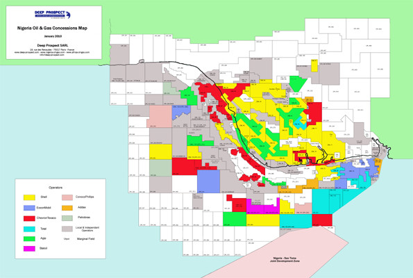 Nigeria Oil and Gas Map