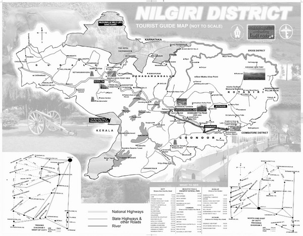 Nilgiri District Tourist Map
