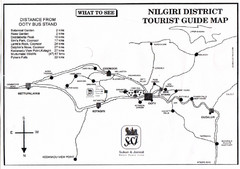 Nilgiri Tourist Map