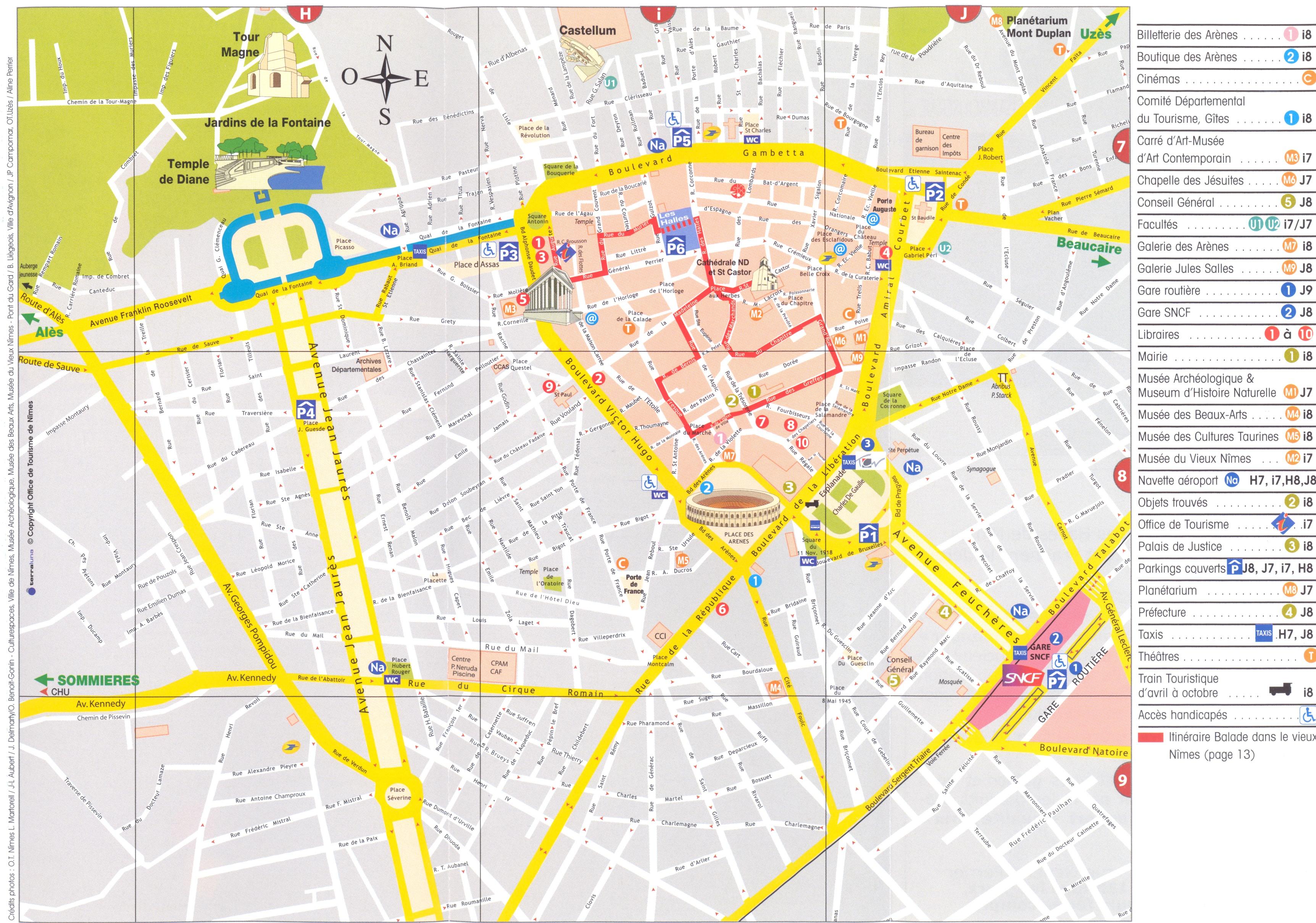 Reims Plan De Ville Michelin