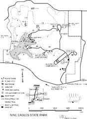 Nine Eagles State Park Map