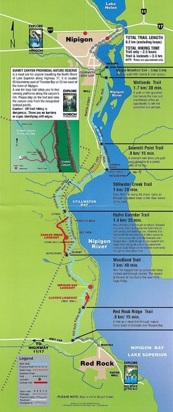 Nipigon River Recreational Trail Map