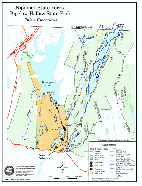 Nipmuck State Forest trail map