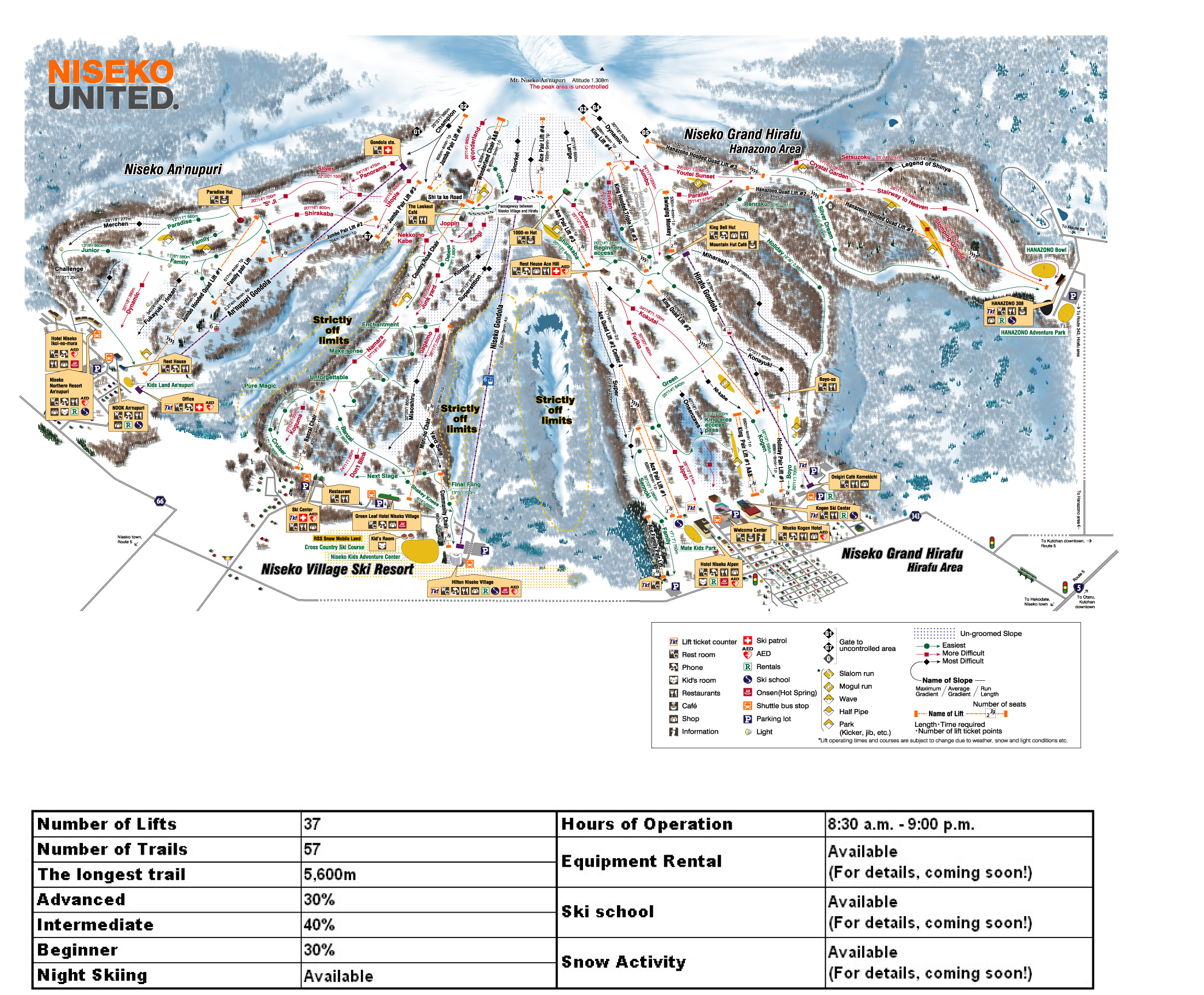 niseko ski resort map - niseko japan • mappery