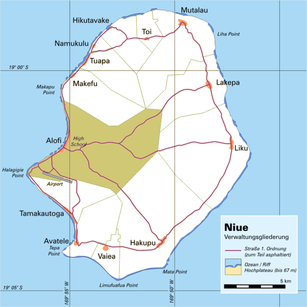 Niue Island Map Niue Mappery - Niue map