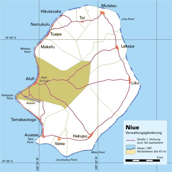 Niue Island Map Niue Mappery - Niue map