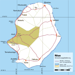 Niue Map Niue Mappery