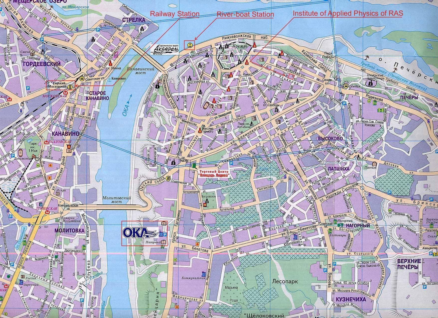 Novgorod Russia Map.Nizhny Novgorod Tourist Map Nizhny Novgorod Russia Mappery