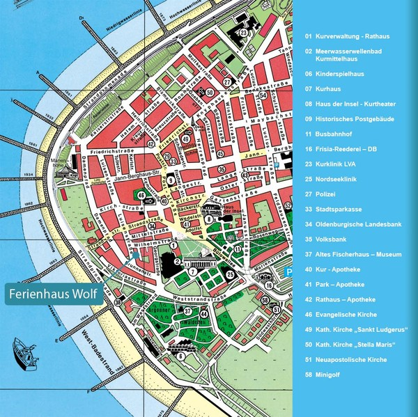 Norderney Tourist Map Norderney Germany mappery
