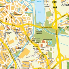 Nordhorn Center Map
