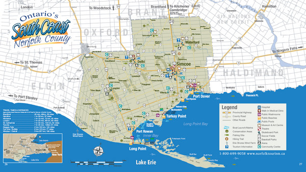 Norfolk County Tourist Map
