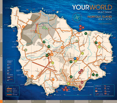 Norfolk Island tourist Map