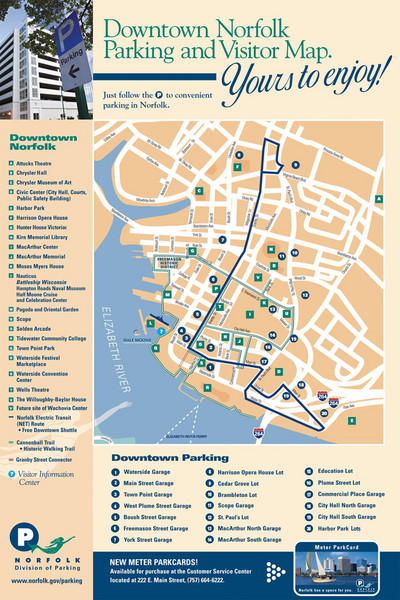 Norfolk Virginia City Map