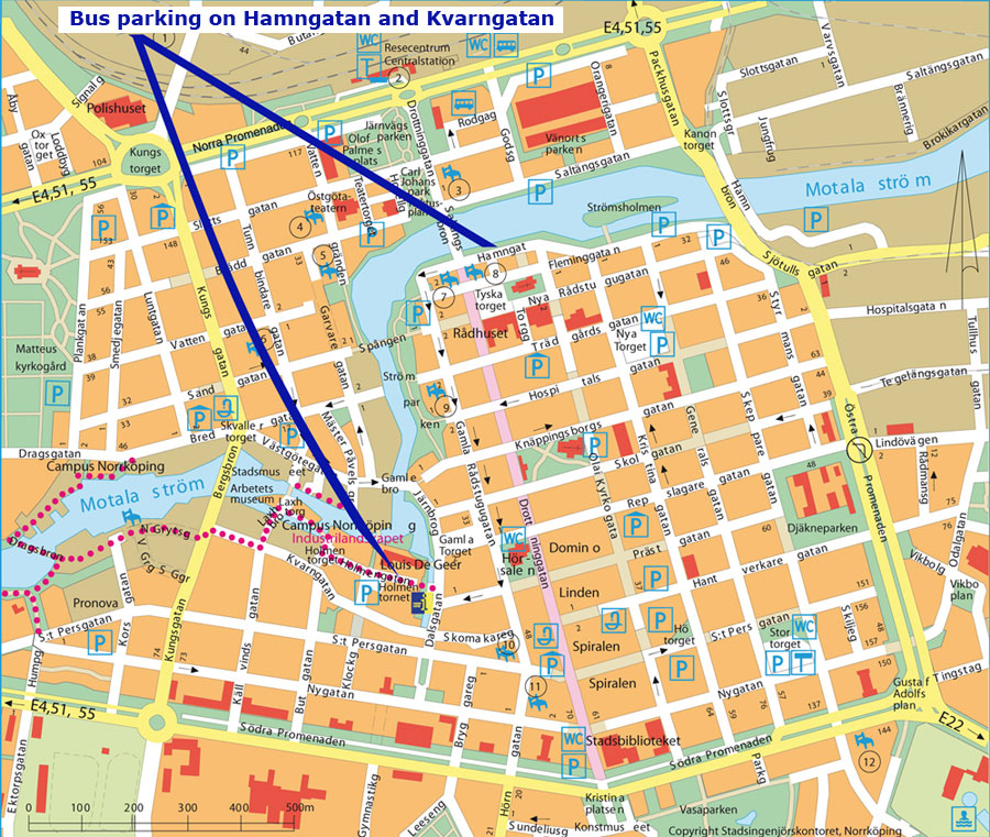 Norrkoping Sweden Cruise Port Of Call - Sweden bus map