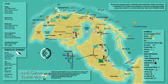 North Caicos Tourist Map