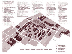 North Carolina Central University Campus Map
