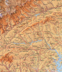 North Carolina Mountains Map