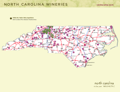 North Carolina Wine Map