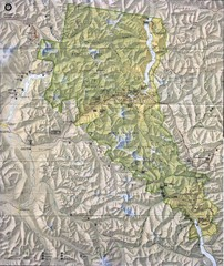 North Cascades National Park Physical Map