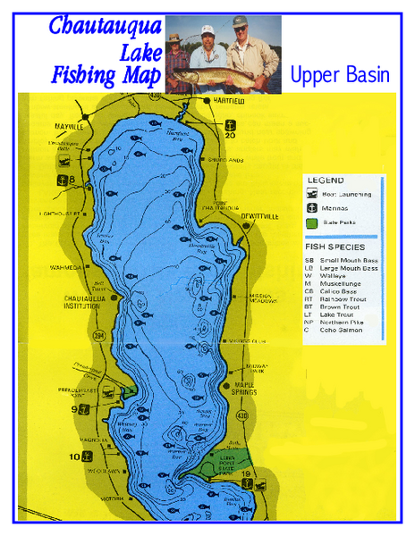 North Chautauqua Lake Fishing Map