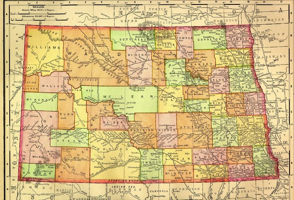 North Dakota Map North Dakota Mappery - North dakota maps