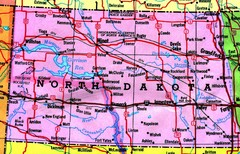 North Dakota Tourist Map