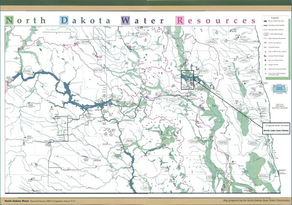 North Dakota Water Resources Map