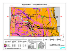 North Dakota Wind Resource Map