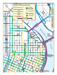 North Downtown Portland Bike Parking Map