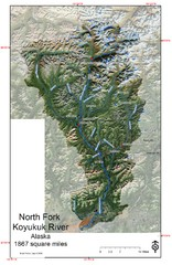 North Fork Koyukuk Watershed - Alaska Map
